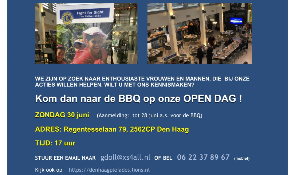 Lions Club Den Haag Pleiades Open Dag